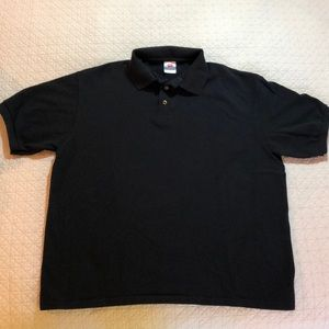 Hanes Short sleeve pica knit polo shirt size large